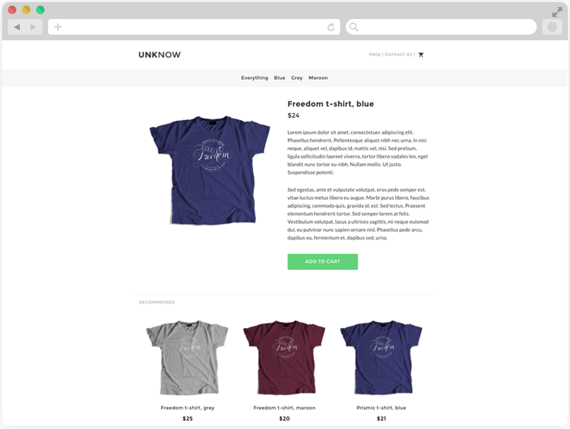 Sample eCommerce Site with Snipcart in Node js | prismic Io Help Center